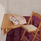 Tische WSSF- Halbrunde Massivholz Wand Klapptisch Schreibtisch Küche Esstisch Wand Computer Schreibtisch Lesen Studie Buch Schreibtisch Faltbar, 80 * 40 * 12 cm (Farbe : Holzfarbe)