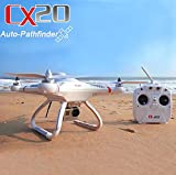 Cheerson CX-20 Rtf Drone Cuadricóptero RC - 2.4G 4CH 6 Ejes Gps Mx Auto-Pathfinder Autopilot con Soporte para Gopro (Sin Cámara) - Blanco