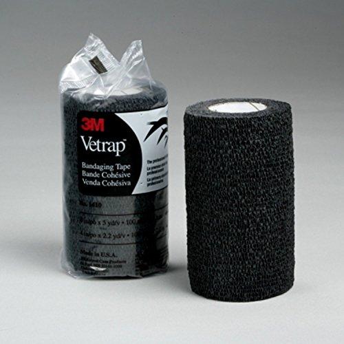 Vetrap Bende adesive 3M da 10.Confezione da quattro bobine Black 10 x 45 m