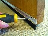 Stormguard Bürstenleiste für Tür, Zugluftstopper–Aluminium