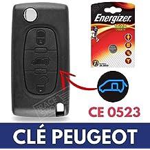 Caja 3 botones para mando a distancia llave Peugeot Expert | Partner | Tepee | Bipper