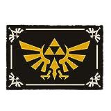 The Legend of Zelda Fußmatte Triforce Symbol Kokosfaser Schmutzfangmatte 60 x 40 cm