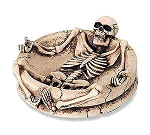 KATERINA PRESTIGE - Cenicero con diseño de Esqueleto alargador, Color marrón
