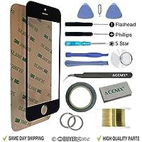 ACENIX® Nero-Vetro frontale touchscreen di ricambio, per Apple iPhone 5,