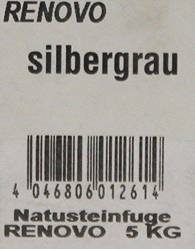 5kg Natursteinfuge silbergrau