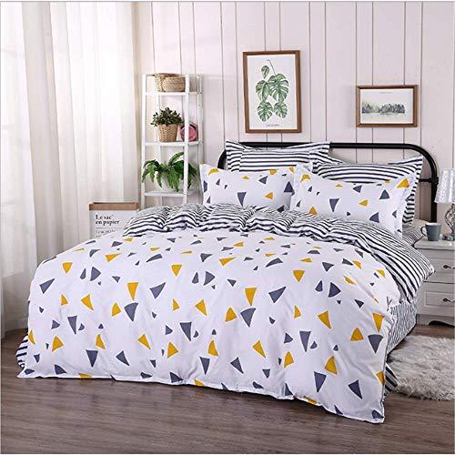 SHJIA Baumwolle Weichen Stoff Twin Queen King Size Bettwäsche Set Für Kinder Bett Set Bettbezug Set Kissenbezüge D 220x240 cm