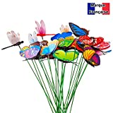 ✮ French Brand ✮ -cz store-papillon decoration|lot of 25| ✮ ✮ Lifetime Guarantee. ✮ ✮ for Decoration Dragonfly -Papillon/Patio/Garden/Patio partere Garden Plant/Flower Pot/puits- Object Decoration Garden multicolore-papillon Decoration Outdoor Resistant Blowing in the Wind and the Rain