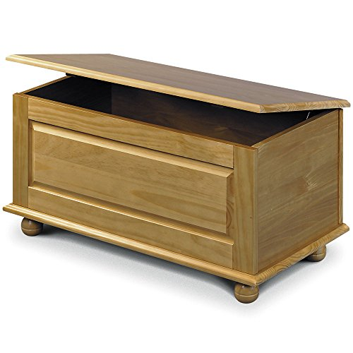 Julian Bowen Pickwick Blanket Box, Ottoman, Storage Box In Solid Pine