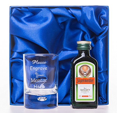 Personalised New 2oz Shot Glass & 2cl Jagermeister