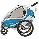 Qeridoo KidGoo 2 Fahrradanhänger 2017 - 2 Kinder,...