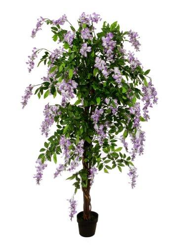 Blauregen 1,90 m künstlich Kunstbaum Kunstpflanze Echtholzstamm