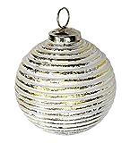 Decoline Glas Weihnachtskugeln 4 Stück Strudel Ø 10cm Silber/Gold