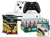 Xbox One S 500GB Konsole - Forza Horizon 3 Bundle inkl. 2. Xbox Wireless Controller (schwarz) + Beck's Pils Dose (24 x 0.5 l) + funny-frisch Chipsfrisch ungarisch, 12er Pack (12 x 50 g)
