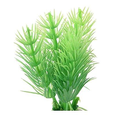 Vektenxi Premium Qualität 10pcs grün Kunststoff Pflanzen Aquarium Dekoration Ornament