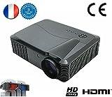 1080P LED Vidéoprojecteur FULL HD vidéo Projecteur FULL HD 1920x1080 vidéoprojecteur 3D 4500 lumens Projecteur Home cinéma pour Jeux Vidéo Film Avec Ports d'entrée HDMI USB VGA RCA soutien PC PS4 XBOX WII DVD WORLD CUP 2018