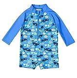 Attraco Baby Badeanzug Rash Guard Kinder UV Langarm Shirt Bademode UPF50+ Blau 12-18 Monate