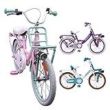 AMIGO - Dots - Bicicletta Bambini - 18'' (per 5-8 Anni) - Rosa