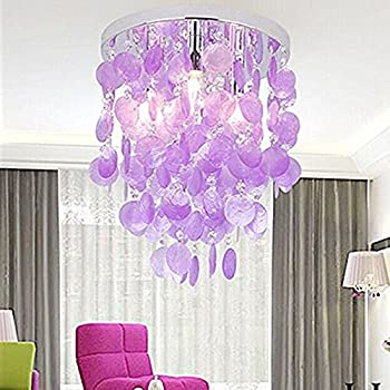 Injuicy modern k9 crystal shell e14 led ceiling lights shades compare with similar items mozeypictures Gallery