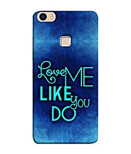 FUSON Designer Back Case Cover for Vivo V3Max (Baby Couples Nice Quotes Happy Lovely Hard Kisses )