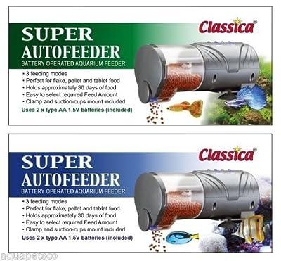 fdo22Classica Aquarium Fisch Tank Autofeeder Automatische batteriebetrieben Fischfutter Feeder Urlaub Urlaub