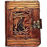 A Little Present Solo Musik Anhänger Vintage Leder Geldbörse (Hardcover Schutzhülle mit Schloss für Kindle/Kobo Glo/Touch/Aura/Sony/PRS–Braun - gut und günstig