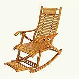 ZXQZ Schaukelstuhl Haushalt Bambus Schaukelstuhl Falten Lounge Stuhl Ältere Mittagspause Stuhl Im Freien Schaukelstuhl Versenkbare Sofa Stuhl Sommer Kühl Stuhl Liegestühle (Farbe : A)