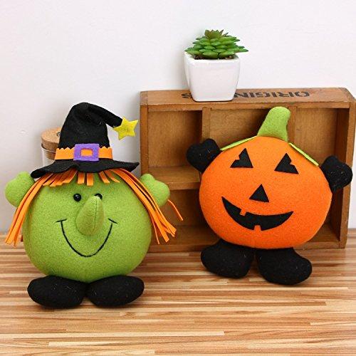 AAAHOMEEU 2Pcs Halloween-Dekoration-hängender Ghost Festival-Karikatur-Hexe-Kürbis-kleiner Aufhänger-Stab-Einkaufszentrum-Kind-Geschenk-Spielwaren