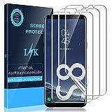KundL LK [3 Stück] Schutzfolie für Samsung Galaxy S8, [Kompatibel mit Hülle] [Blasenfreie] Klar HD Weich TPU Folie [Volle Abdeckung] [Lebenslange Ersatzgarantie]