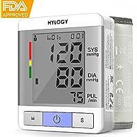 Tensiómetro de Muñeca HYLOGY Monitor de Presión Arterial Esfigmomanómetro Digital Automático y Monitor de Arritmias,