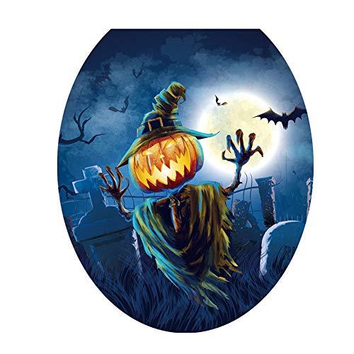Bolange Halloween WC Aufkleber WC Aufkleber kreative PVC Badezimmer Wasserdichte Wallpaper Halloween Dekoration - # 4