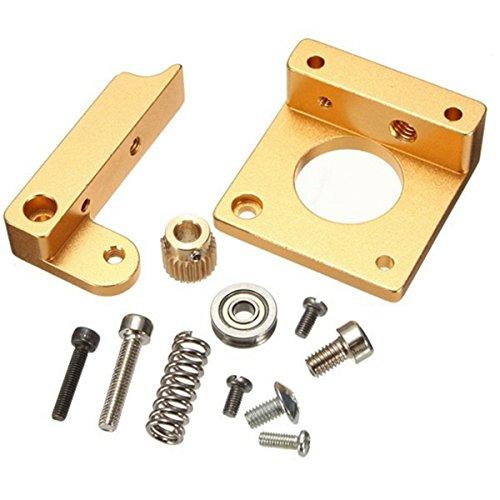 DollaTek Todo el metal derecho mano MK8 extrusora aluminio marco bloque kit de bricolaje para Reprap i3 impresora 3D