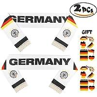 VAMEI 2 STÜCKE Fußball Schal Tattoo Aufkleber FIFA Fußballspiel Dekorationen