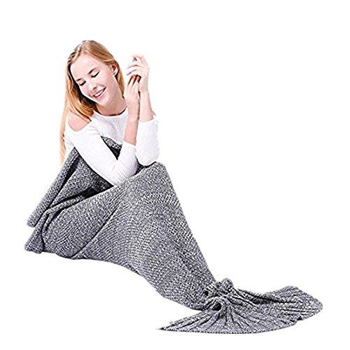 Das beste Mädchen Meerjungfrau Schlafsack Kostüm Fischschwanz Decke Schwanz Flosse Handgemachte Blanket Häkel