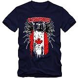 Canada Adler #2 Premium T-Shirt Kanada Flagge Weißkopfseeadler Herren Shirt, Farbe:Dunkelblau (French Navy L190);Größe:XL