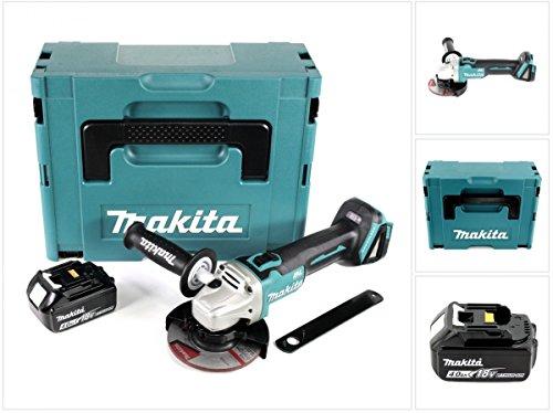 Makita DGA 504 18 V 125 mm brushless Akku Winkelschleifer im MAKPAC inkl. 1x BL 1840 Akku - ohne Ladegerät