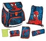 Scooli SPJU8252AZ Campus UP Schulranzen Set Marvel Spider-Man, 6 teilig