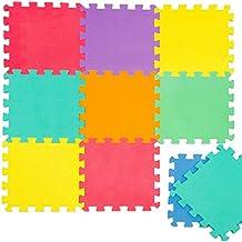 Alfombra Puzle para Niños | en Espuma EVA | Alfombra Desmontable Infantil para Jugar | de Cuadros Multicolores