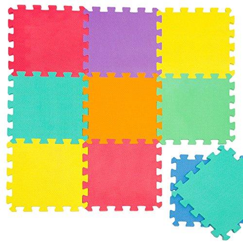 *LittleTom Puzzlematte Spielmatte Uni Bunt 10-tlg. Spielteppich Schaumstoff Puzzle Kinderteppich*