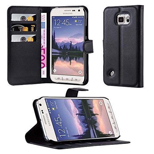 Cadorabo Hülle für Samsung Galaxy S6 Active in Phantom Schwarz