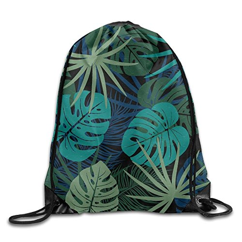 FAFANIQ Summer Tropical Palm Leaves Drawstring Bag for Traveling Or Shopping Casual Daypacks School Bags