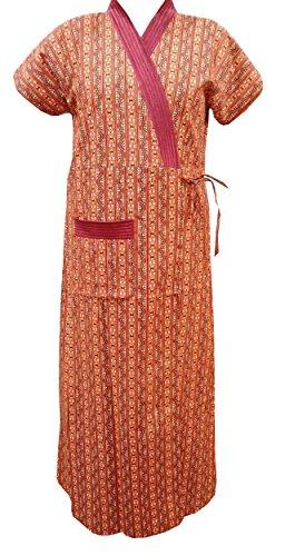Babydoll Womens Ladies Housecoat House Coat Lounge Coat Robe Indian Nighty Night Gown Night Wear Sleep