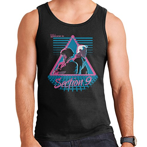 Welcome To Section 9 Ghost In A Shell Men's Vest Black