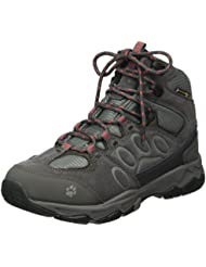 Jack Wolfskin Mtn Attack 5 Texapore Mid W, Zapatos de High Rise Senderismo Para Mujer, Gris (Hibiscus Red 2260), 42.5 EU