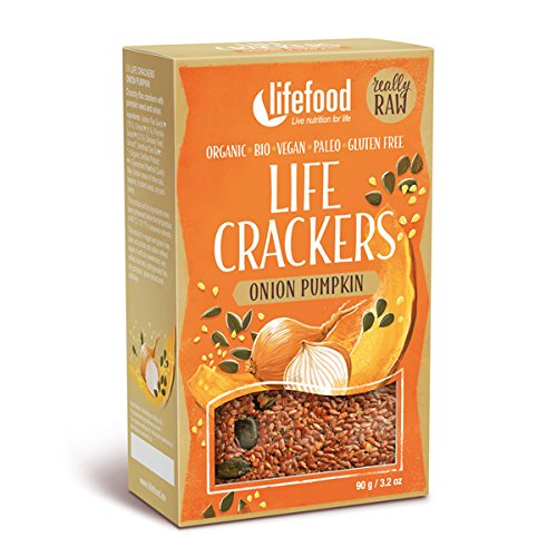 lifefood Crackers Zwiebel Kürbiskern - 8 Packungen à, 720 g