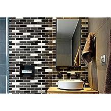 Tile & Sticker 3D Gel Mosaic Effect Self-Adhesive Splashback Tile Sticky Wall Tile Sticker for Kitchen/Bathroom by Tile & Sticker
