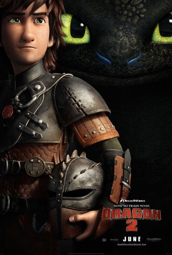 How to Train Your Dragon 2 (2014) 24X36 Movie Poster (THICK) - Jay Baruchel, Kristen Wiig, America Ferrera by World Mall Group