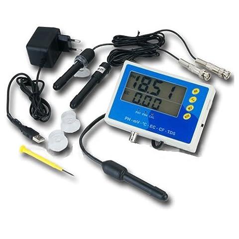 6-IN-1 multimeter tester measuring instrument (EC, CF, TDS, PH, °C & Redox) conductivity aquarium/pond/pool