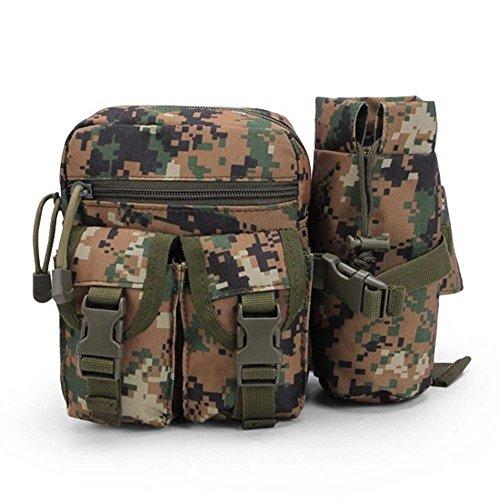 dohot Tactical MOLLE Wasser Flasche Tasche Taille Pack für Wandern Camping und Sport Jungle Digital