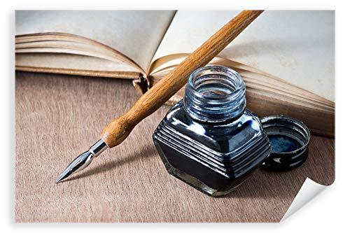 Postereck - Poster 0959 - Feder und Tinte, schreiben Brief Kalligrafie Papier Größe 3:2-61.0 cm x 40.5 cm -