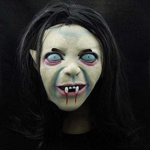 Zerama Halloween-Hexe-Geist-Schablone Grudge Sadako Armkugel Zombie Schwarzen Maske Maske